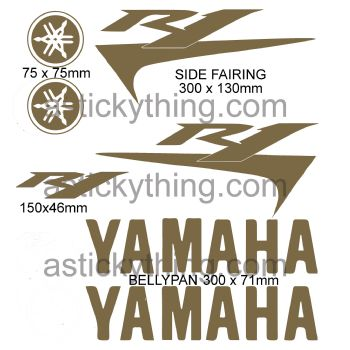 Yamaha R1 Fairing Stickers Car Motorbike Vinyl Decals